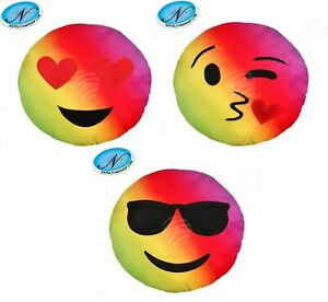 Cuscini Emoticon.Offerta Set 3 Cuscini Emoticon Cuscino Faccina Emoji Multicolor