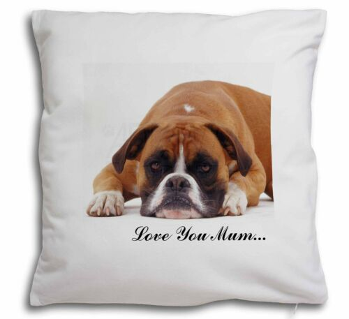 AD-B26lym-CPW Red Boxer /'Love You Mum/' Soft Velvet Feel Cushion Cover With Inne