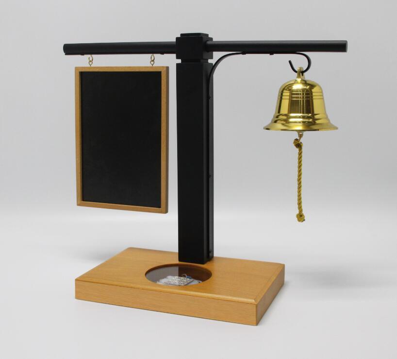 Comptoir Lumière Laud vin Affiche titulaire avec tableau noir & Bell 21086