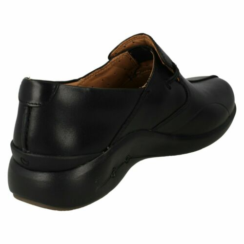 Ladies Clarks /'Un Loop 2 Walk/' Leather Casual Slip On Shoes D Fitting