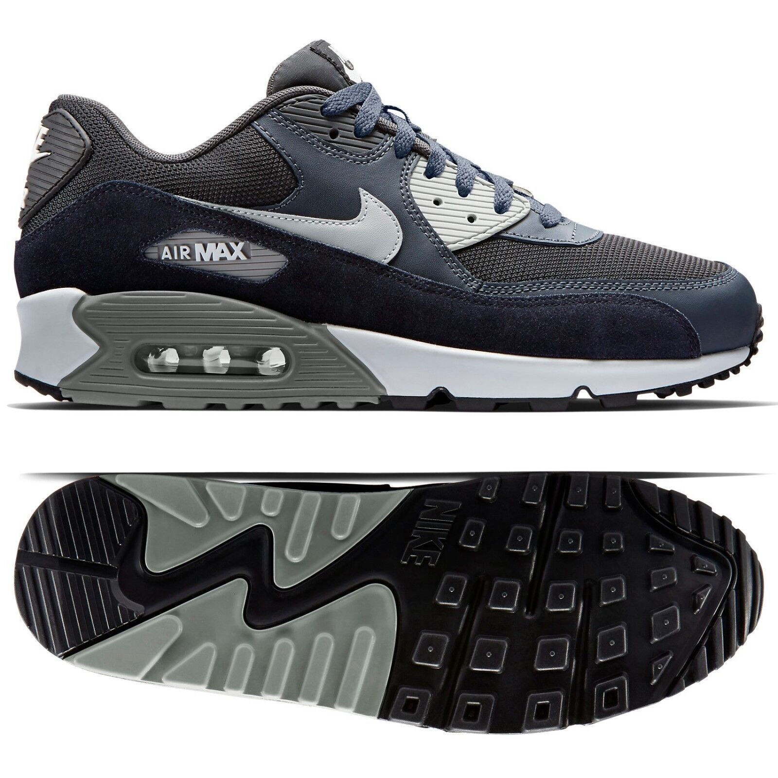 Nike air max 90 essenziale 537384-035 antracite scarpe / granito / uomini scarpe antracite in pelle nera b44deb