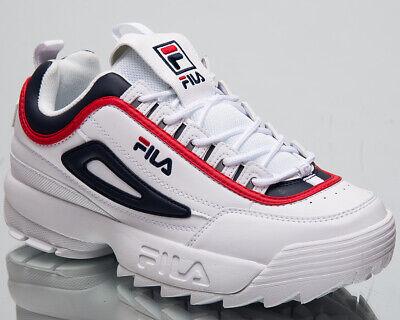 Fila Disruptor CB Bas Hommes Blanc Décontracté Vie Épais Chaussures 1010575 01M   eBay
