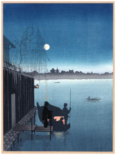 High Quality POSTER on Paper or Cotton Canvas.Decor.Asian Woodcut.Japan.4009