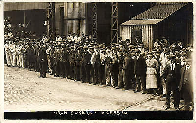 Portsmouth photo. Iron Dukers by S. Cribb # 10. Shipbuilders of HMS Iron Duke.