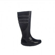 MBT INTISAR BLACK LEATHER KNEE HIGH ZIP UP TONING BOOTS UK 3.5 EUR 36 RRP £295