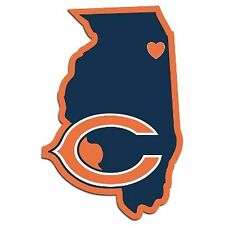 Official Chicago Bears NFL Football Home State Auto Sticker Window - Window stickers for cars chicago