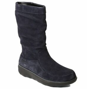 b1fecdfdf080 Image is loading NEW-FitFlop-Loaff-Slouchy-Knee-Boot-Supernavy-Suede-