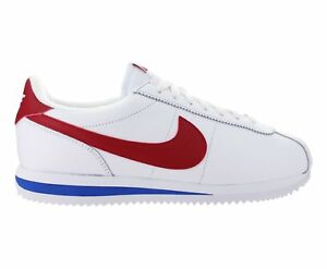 Mens-Nike-Cortez-Basic-Leather-OG-Forest-Gump-White-Varsity-Red-Royal-882254-164