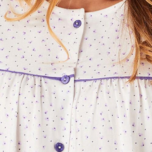 Femmes Pyjama SLENDERELLA Ditsy Cœur Imprimé Boutonné Top /& Pantalon De Coton