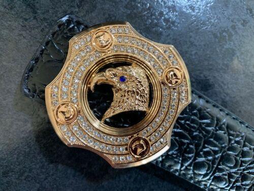 MENS DESIGNER LEATHER BELTS EAGLE WITH LUXURY DIAMONDS CROCODILE H BELT FOR MEN