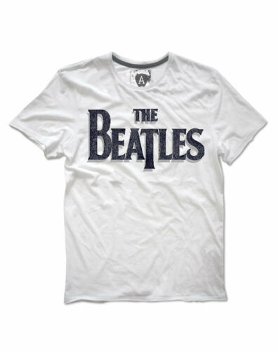 The Beatles /'Logo/' T-Shirt - Amplified Clothing NEW /& OFFICIAL! White