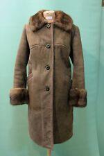 Schöner  Lamm-Fell Mantel shearling ca  44/L Kürschner echt Leder vintage braun