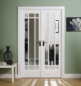 Manhattan White Room Divider Internal Interior Glass Door Glazed