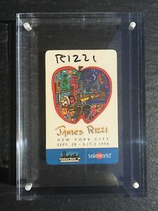 James-Rizzi-Telefonkarte-034-LIFE-IN-THE-BIG-APPLE-034-handsigniert-gerahmt-TOP