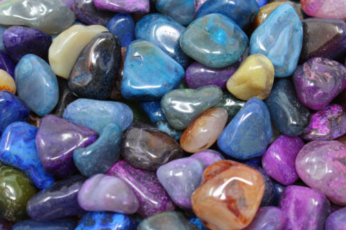 Dyed Bright Colorful Mixed Assorted Tumbled Agate Gemstone 500 Carat