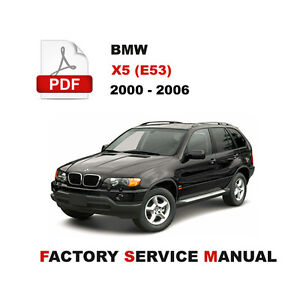 2000 2006 bmw x5 e53 service repair workshop manual wiring rh ebay com