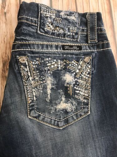 Me 33 Signature Jeans By Mek X Miss 27 Buckle Boot Destroyed Embellished 56qPnwB