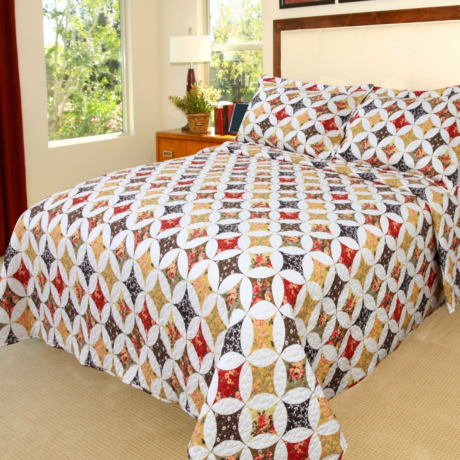 Lavish Home Juliette Embroidered 3 Piece Quilt Set King For Sale Online Ebay