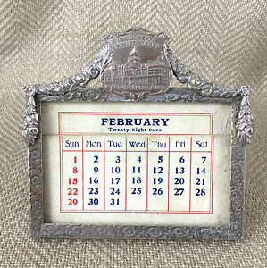 Antico-Calendario-da-Tavolo-Michigan-Army-Soldier-Veteran-US-Militare-Americana
