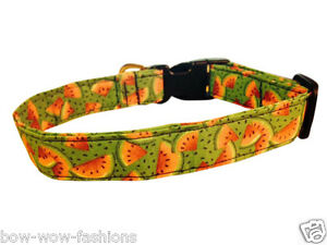 COLLAR-SALE-SPIFFY-POOCHES-Dog-Collar-WATERMELON-XS-SM-MED-LG-XL-Pet-Puppy