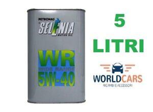 5-LITRI-OLIO-MOTORE-SELENIA-WR-WIDE-RANGE-5W-40-5W40-5-LT-FIAT-ALFA-ROMEO-LANCIA