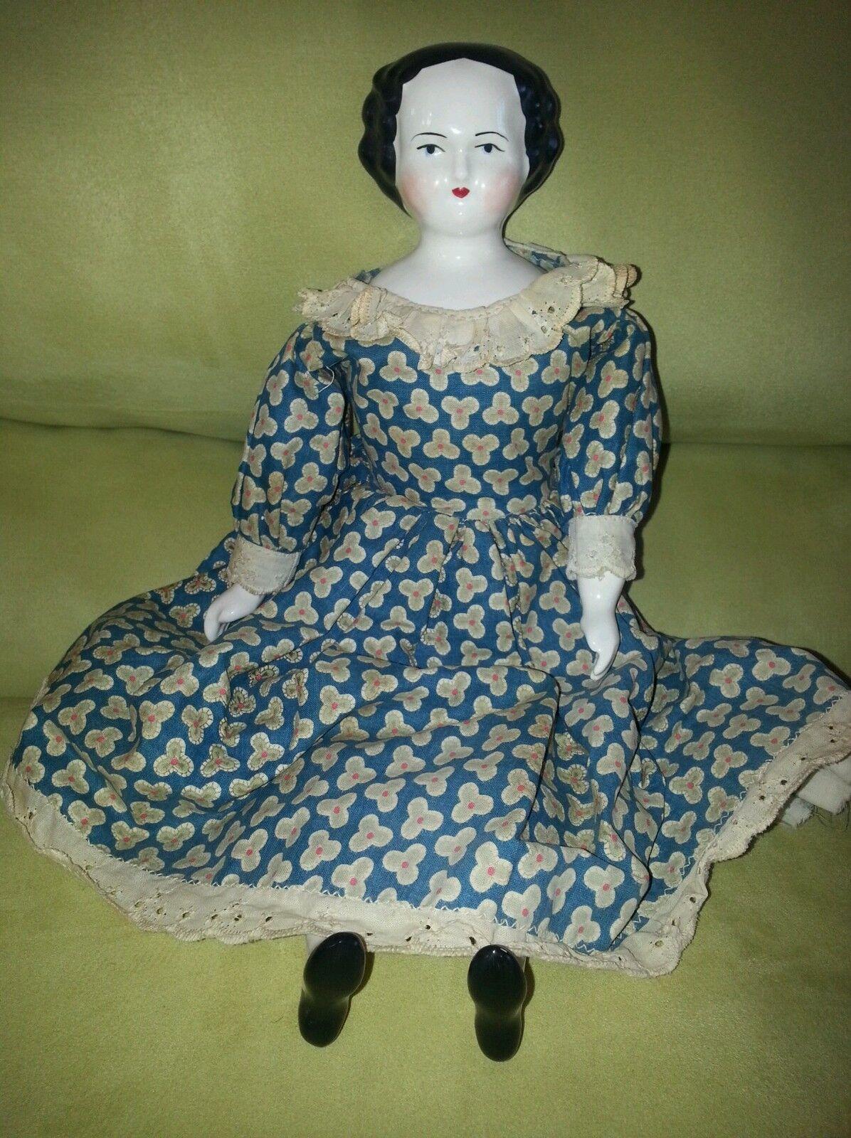 Antiguo Original Rara Muñeca De Porcelana Alemana alto 14 1 2  más de 100 años de edad