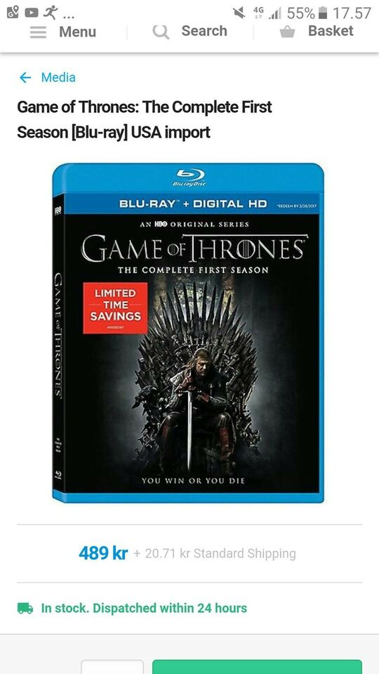 Game of Thrones: The Complete First Season (TV),