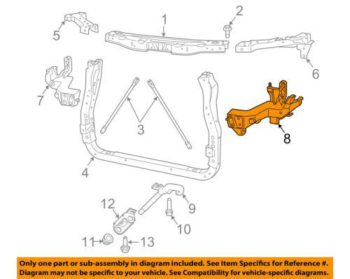 Dodge CHRYSLER OEM Durango Radiator Support-Support Bracket Left 68227827AA