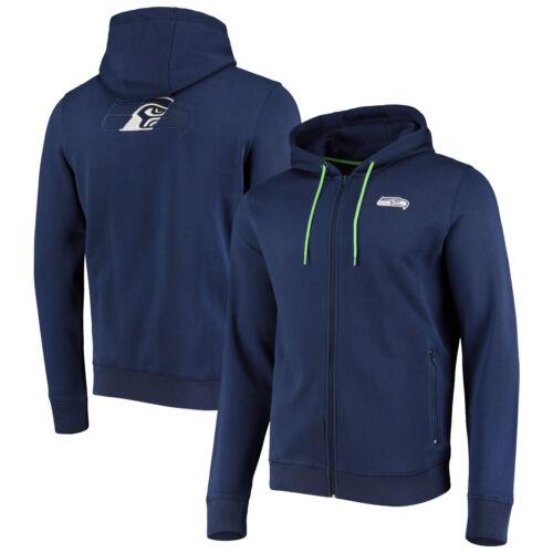 Seattle Seahawks Split Hoodie Sweatshirt Kapuzenpullover Marineblau Herren