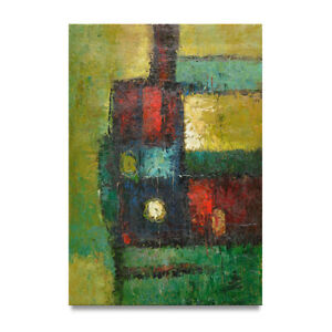 NY-Art-Colorful-Fine-Art-Modern-Abstract-24x36-Original-Oil-Painting-on-Canvas
