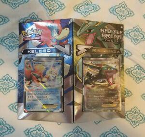 Pokemon Keldeo vs Rayquaza Battle Arena Deck Pack - Two 60 ...