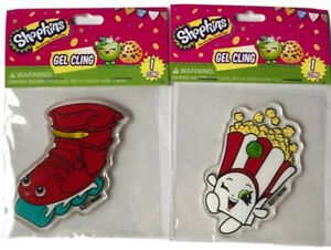 New-Shopkins-Gel-Cling-Roller-Skate-And-Popcorn-2-Piece-Lot