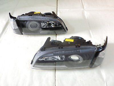 C70 S70 96 97~00 Sedan Projector Glass Headlight W// Corner Lamp Black for~VOLVO~
