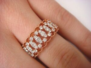 UNEEK-034-BRODERIE-ANGLAISE-034-14K-ROSE-GOLD-0-60-CT-T-W-DIAMONDS-OPEN-LACE-BAND