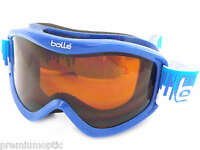 Bolle Childrens Kids 6-12yrs Volt Ski Snow Goggles Blue Equalizer / Citrus 21088
