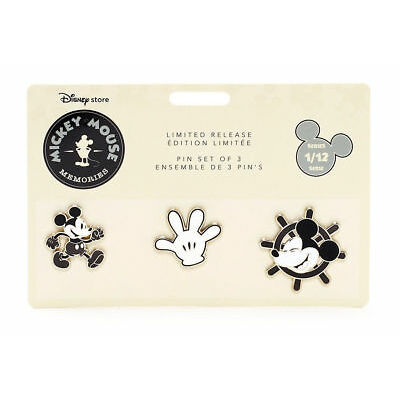 Disney Memories Mickey Mouse Steamboat Willie 3 Pin Set - January Limited...