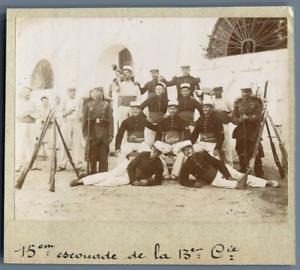 Tunisie-15eme-Escouade-de-la-13eme-Cie-Vintage-citrate-print-Photo-J-Bougri