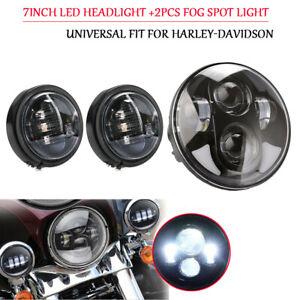 LED-Haupt-Scheinwerfer-7-034-2x-LED-Zusatzscheinwerfer-4-5-034-E-Nummer-Set