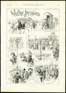 1889-Antique-Print-VIEW-IN-WHITBY-North-Yorkshire-Harbour-Beach-133