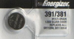 1 Energizer Silver Oxide SR1120SW SR1120W SR1120 1.55V Watch Battery