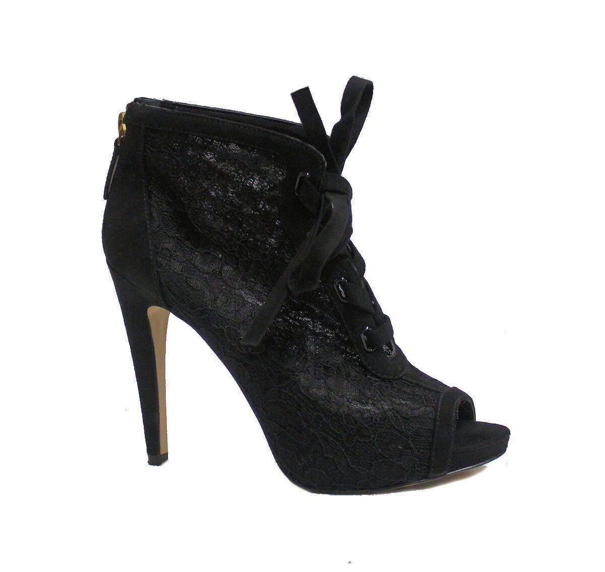 Nine West Women's Lace Up Heels Black US 8.5 NWD