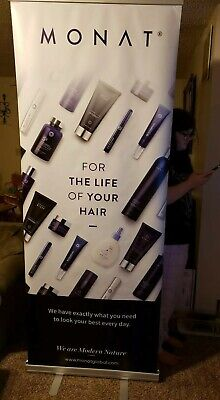 Monat Hair Care Retractable Banner Sign Portable Display Stand Very Large Ebay