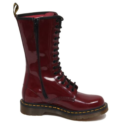Shoe F1396 Martens Donna Woman Boot no Red Box Anfibio Dr Cut Scratched H4fqHzw