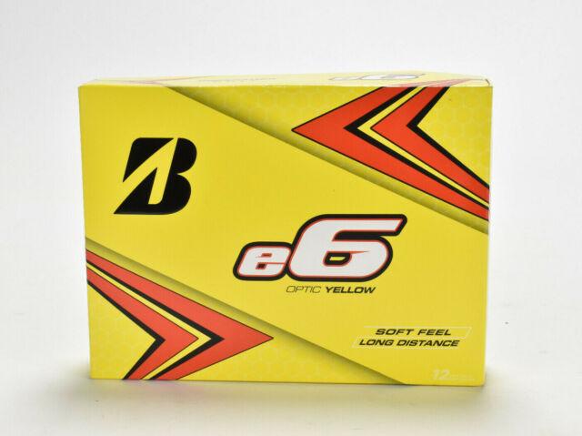 Bridgestone E6 Optic Yellow Golf Balls- One Dozen