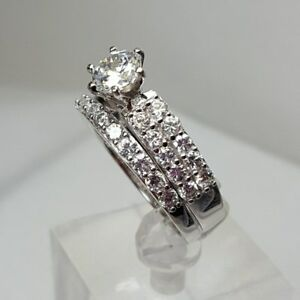 46848d1d7a5df Details about NEW JTV Bella Luce 3.29ctw Rhodium over Sterling Silver Ring  with Band SZ 9