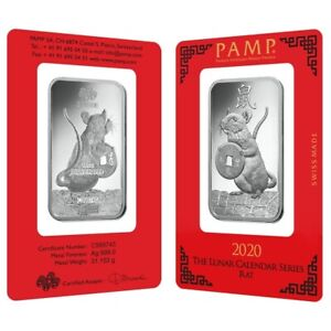 1 Oz Pamp Suisse Year Of The Mouse