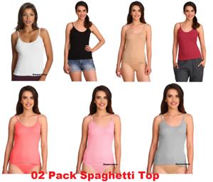 52cf45c2369 Jockey Women's Camisole Spaghetti Top 02 Pack Style#1487 Size- S M L ...