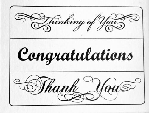 "Card Saying 3 Pack Thank You Congragulations Darice /""Phrases/"" Embossing Folder"