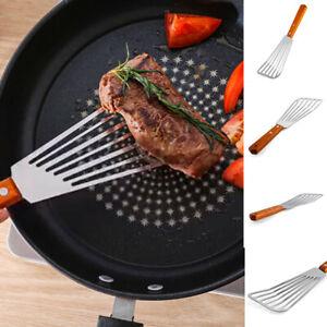 Stainless Steel Frying Spatula Leaky Shovel Fish Slice Non-slip Kitchen Tool San