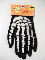 Glow In The Dark Skeleton Gloves Costume Accessory Halloween Dress Up